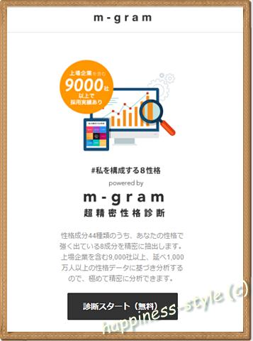 m-gram性格診断のトップページ